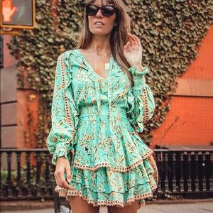 NWT Spell & The Gypsy Maisie blue play dress S XS